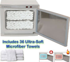 2 in 1 Hot Towel Warmer Cabinet UV Sterilizer 36 Hand Towels Spa Salon Equipment