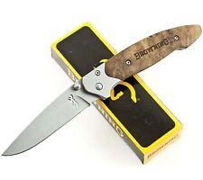 Browning FRAMELOCK w/ BLOND WOOD Handles Buckmark Pocket Knife 141 Framelock