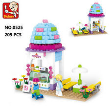 Sluban B0525 Pink Ice Cream House Shop Figure Building Block Toy lego Compatible