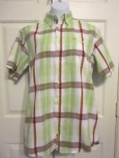 Larry Mahan Cowboy Collection Western Shirt Size Small Ladies Short Sleeve Green