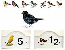 BLACKBIRD Bird House porta numero targa ceramica casa firmare qualsiasi numero
