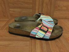 GUC!�� Papillio By Birkenstock Menorca Sandals Watercolor Striped 37 6