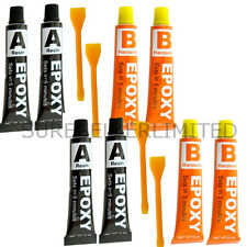 4 x Epoxy Glue Adhesive Clear Strong Resin Plastic Ceramic Glass Rubber Metal