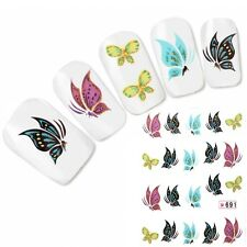 Tattoo Nail Art Aufkleber Schmetterling Glitzer Butterfly Nagel Sticker Neu!