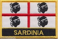 Sardinia Italy Flag Embroidered Patch Badge - Sew or Iron on