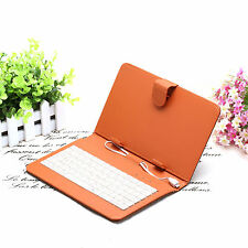 "7"" Gridding Universal Leather Cover Keyboard Case With Micro USB for 7"" Tablet"