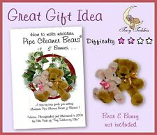 Pipe Cleaner Craft Book How to Make Miniature Bear & Bunny Doll house ooak