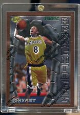 1996 96-97 Topps Finest #74 KOBE BRYANT Rookie Card RC w/ Peel Lakers