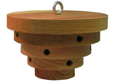 """Bee Hive"" Shaped Mason Bee House: Orchard & Solitary Bees Nest in this Habitat"