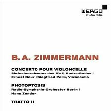 Zimmerman: Cello Concerto, Photoptosis, New Music