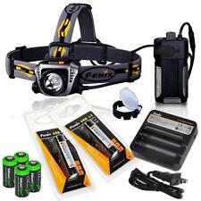 New Fenix HP30  LED 900 Lumen Headlamp w/ 18650 ARB-L2 Batt ARE-C1 Charger -Grey