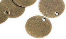 50 x Mini 10mm Bronze Round Blank Stamping Tags Pendants Engraving Disc Jewel