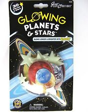 30 PLASTIC GLOW IN THE DARK PLANETS AND PLASTIC STARS! BRAND NEW!!