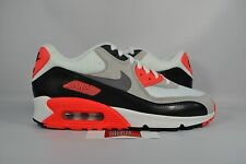 NEW Nike Air Max 90 PRM Mesh GS INFRARED WHITE BLACK 724882-100 sz 6.5Y