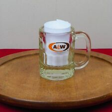 A & W Root Beer Float Mug Logo Glass MCM Vintage Retro Soda Pop