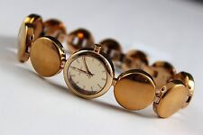 DKNY Rose Gold Tone Ladies Round Link Bracelet Mirror Dial Watch NY8868