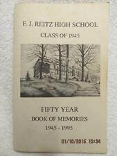 Reitz High School Class of 1945 50-Year Reunion Book Evansville IN Class Updates