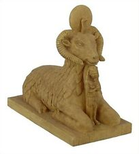 "Miniature Egyptian Ram Statue Stone Finish, 4""L E-331S"