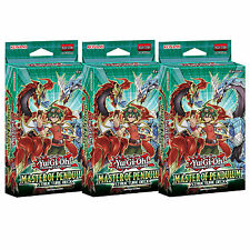 3X YU-GI-OH MASTER OF PENDULUM STRUCTURE DECKS SDMP - 3 SEALED DECKS NEW CARDS