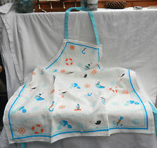 Nautical Design Bib Style Apron - Home Baking - Shabby Chic - BNIB