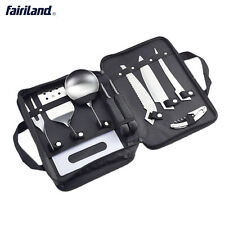 Outdoors Cooking Equipment Cookware 8 Pieces Kit Cookset for camping, hiking