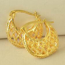 Antique 9K Yellow Gold Filled Women's Hoop Earrings, F5725