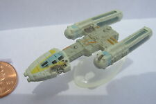 Star Wars Micro Machines Y-WING FIGHTER BATTLE DAMAGED with stand