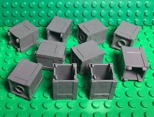 Lego X10 New Dark Gray Container Crate / Box / Street Trash Can Bulk Lot