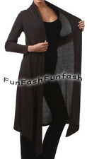 CR2 FUNFASH BLACK RIBBED LONG CARDIGAN DUSTER SWEATER JACKET Plus Size 1X 18 20