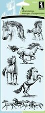 INKADINKADO clear cling stamps HORSES for Card making, stamping & papercraft