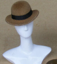 1:12 Scale Light Brown Bowler Hat Dolls House Miniature Clothing Accessory