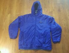 Patagonia Insulated Blue Puffer Winter Coat LARGE hooded VTG 90s jacket rare
