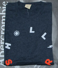 NWT HOLLISTER Men Embellished Applique Logo Graphic Tee T Shirt By Abercrombi​e