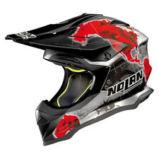 CASCO CROSS NOLAN N53 PRACTICE - 31 C.CHECA SCRATCHED CHROME TAGLIA L