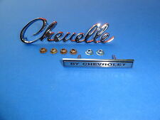 1969-69 CHEVROLET CHEVELLE MALIBU HEADER EMBLEM KIT-CHEVELLE BY CHEVROLET-NEW