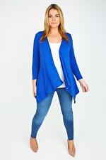 Women's Cobalt Blue Waterfall Edge to Edge Cardigan Size UK 24