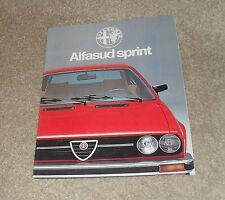 Alfa Romeo Alfasud Sprint Brochure 1978