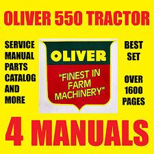 OLIVER 550 SERIES TRACTORS SERVICE MANUAL PARTS CATALOG REPAIR MANUALS CD / DVD