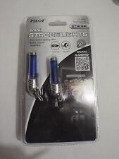PILOT MINI STROBE LIGHTS  LIGHT , 2 PIECE KIT, ITEM # CZ-3065 BLUE 12V NIP