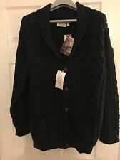 Men's James Aubrey Chunky Wool Shawl Cardigan Size L BNWT