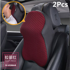 2x New Auto Car Seat Headrest Memory Foam Head Neck Rest Support Cushion Pillows