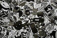 30 x 150CM Black White sticker sticker bomb foil Autofolie sticker bomb film