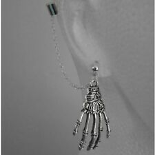 Skeleton Hand -  Ear Cuff Clip Chain Dangle Piercing  *UK MADE * - *FREE POST*