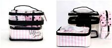 Victoria's Secret travel case make up bag iconic pink stripes set 4 pieces polka