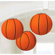 BASKETBALL PAPER LANTERN DECORATIONS (3) ~ Birthday Party Supplies Sports NBA