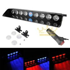 Car 9 LED Cigarette Lighter Dash Strobe Warning Flash Emergency Light Red&Blue