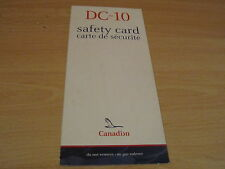 Canadian DC-10 safety card RARE