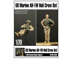 D-Toys 1/35 US Marine AH-1W Helicopter Crew Set for Academy AH-W (2 Figures)
