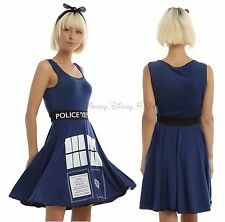 New Dr Doctor Who TARDIS Print Cosplay Tank Style Skater Dress Juniors XL