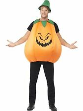 Adult Unisex Spooky Pumpkin Ladies / Mens Halloween Fancy Dress Costume Outfit